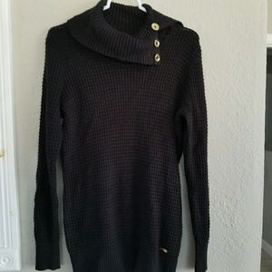 Calvin Klein black knitted sweater with cowl neck